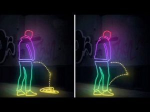 """Pee proof paint is the """"paint that pees back"""", bouncing urine back at shoes and trousers"""