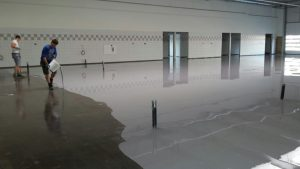Non skid paint protects employees from injury