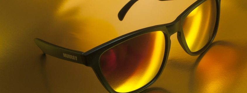 anti reflection coating applied on sunglasses