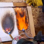 comparing plywood with fire retardant paint for wood and without fire rated paint for wood