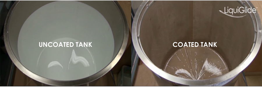 LiquiGlide nonstick coating system saves the paint industry from waste