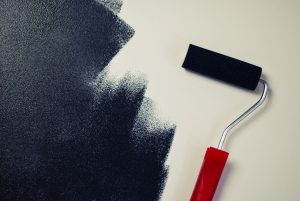Decorative paints can be applied with brush, a roller or spray