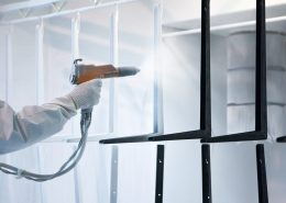 Powder coating application uses the same chemistries as liquid coating