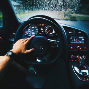 automotive interior paint applied on dashboard and steering wheel as plastic coating paint