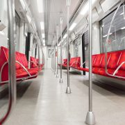 automotive powder coating in subway interior