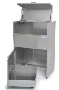 Industrial coating equipment: easy access paint waste container by EMM