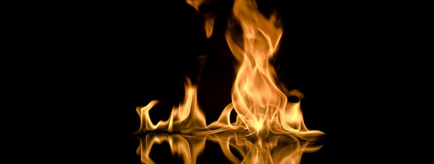 fireproof paint damping flames