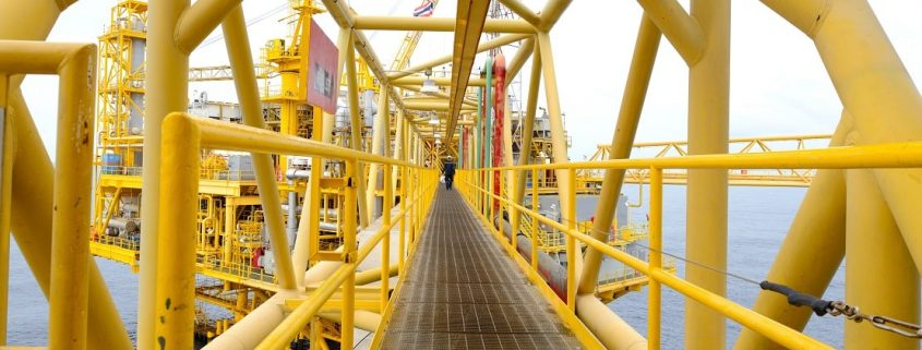 yellow Polyurethane paint on steel structure