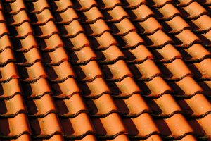 roof coating on red roof tiles