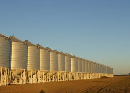 tank coating and tank lining applied on and in a row of water tanks