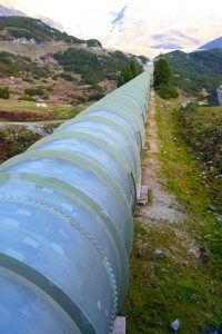 a pipeline with pipe coating as protection