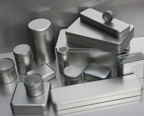 packaginf coatings protecting multiple metal tins