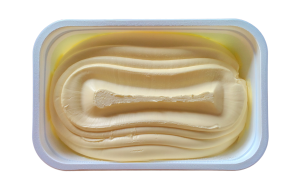 packaging coatings for plastic in a butter pot