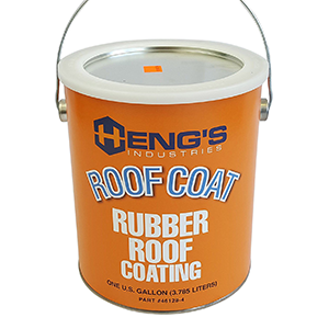 Heng's Roof Coat Rubber Roof Coating White 1 Gallon