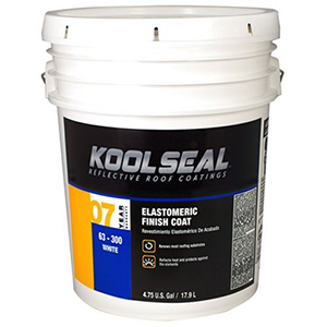 Kool Seal Reflective Roof Coatings Elastomeric Roof Coat White Coat 4.75 Gallon