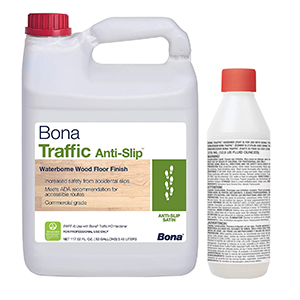 Bona Traffic Anti Slip Satin waterborne wood floor finish 2 pack 1 Gallon