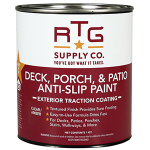 RTG Deck, Porch, Patio Anti-Slip Paint Quart, Clear-Amber
