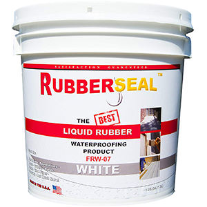 Rubberseal Liquid Rubber Waterproofing Coating White 1 Gallon