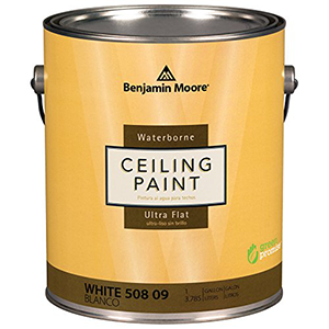 Benjamin Moore Waterborne Ceiling Paint Ultra Flat White 1 Gallon