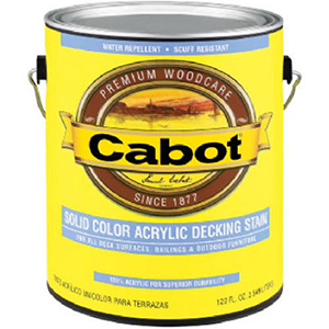 Cabot Solid Color Base Acrylic Decking Stain 1 Quart