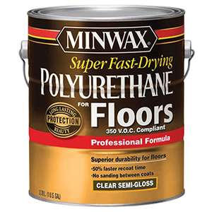 Minwax Super Fast-Drying Polyurethane For Floors 350 VOC 1 Gallon Semi-Gloss