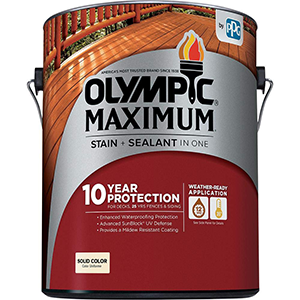 Olympic Maximum Stain and Sealer Solid Color Navajo Red 1 Gallon