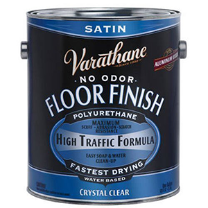 Varathane Water- Based Crystal Clear Satin Floor Finish 1 Gallon