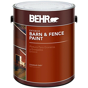 BEHR Exterior Barn and Fence Paint Red 1 Gallon