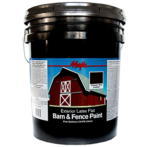 Majic Paints Barn & Fence Paint Classic Red Flat 5 Gallon