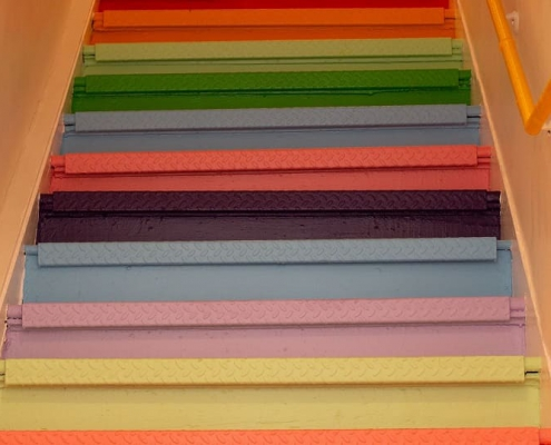 Paint wooden stairs