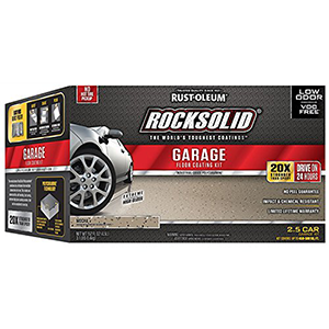 Rust-Oleum Rocksolid Garage Floor Coating Kit Mocha High Gloss