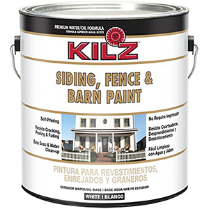 KILZ Fence and Barn Paint White Oil- +Water-based Exterior